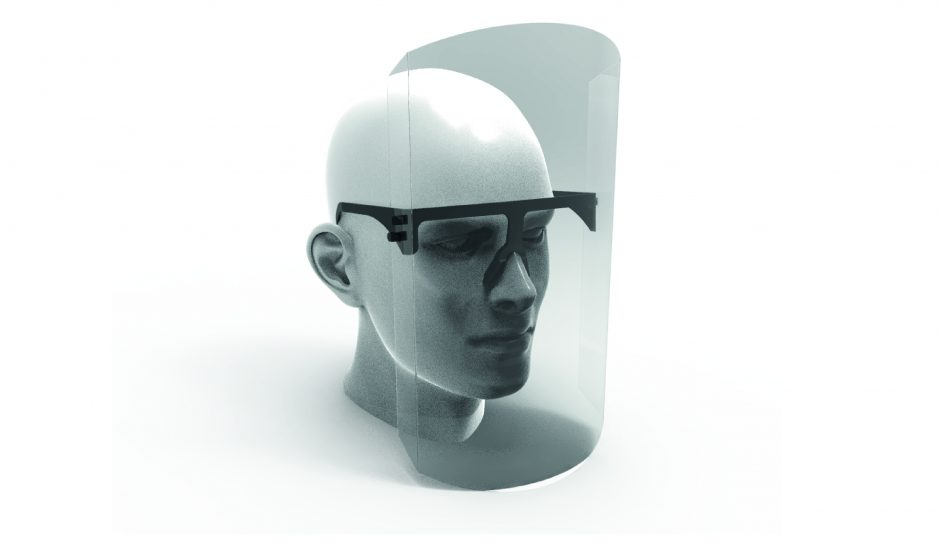 Mascarilla de protección facial con códigos de utilización libres: Innovación regional al alcance de todos